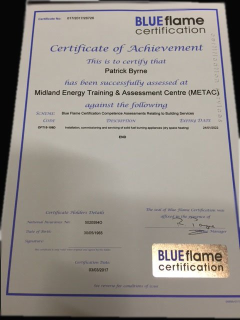 Blueflame Certificate