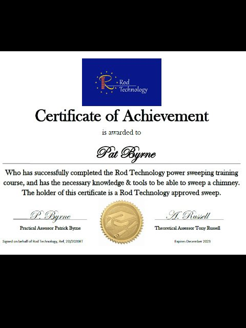 Rod Technology Sweep Certificate